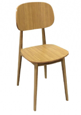 Bunny Natural Oak Wooden Side Chair